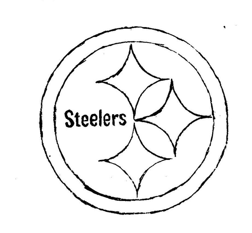 steelers logos coloring pages | Logos, letters, etc - Creative Gifts